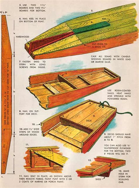 Wooden Punt Boat Plans by Zicke Plywood Boat Building With Epoxy
