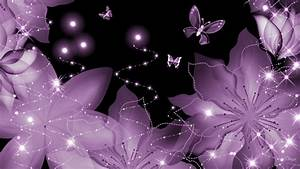 Purple, Petals, Wings, Wallpaper