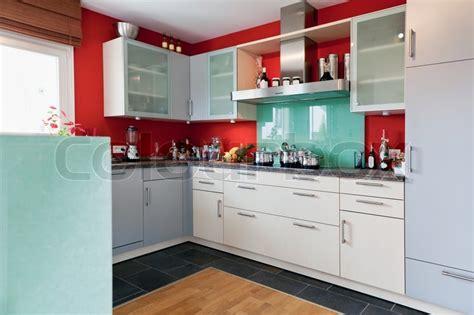 modern house interior  modern kitchen room stock