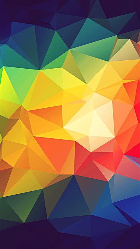 colorful abstract triangle shapes render wallpaper 1080x1920