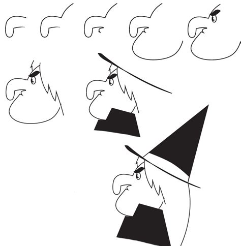 How to Draw Halloween Witch Drawings