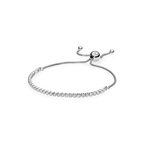 pendant string bracelet pandora sparkling strand bracelet 590524cz greed