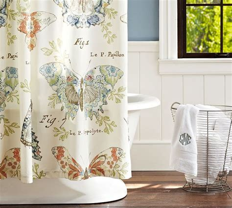 pottery barn curtains ebay shower curtains with barns pottery barn butterfly fabric