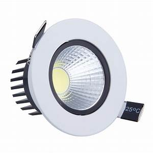Pcs w led cob spot light dimmable recessed