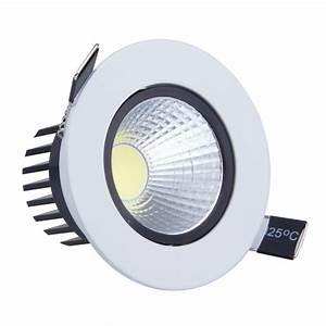 Pcs w led cob spot light dimmable recessed