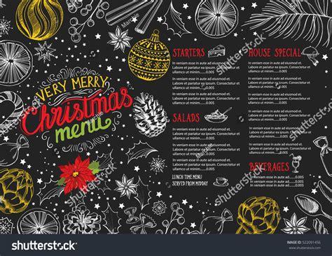 christmas restaurant brochure menu template vector stock