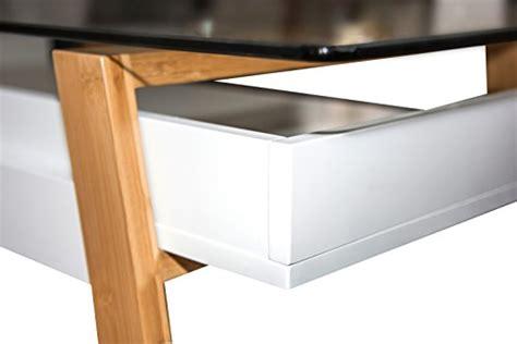 bureau bois verre bonvivo table bureau secrétaire massimo moderne verre