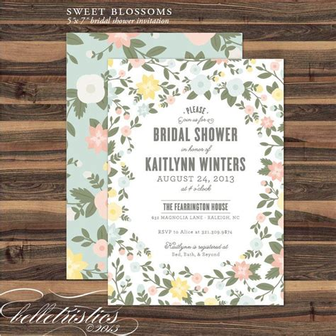 printable bridal shower invitation diy print at home
