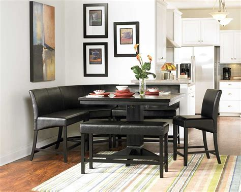 Small Rectangle Breakfast Nook Table With Pedestal Base