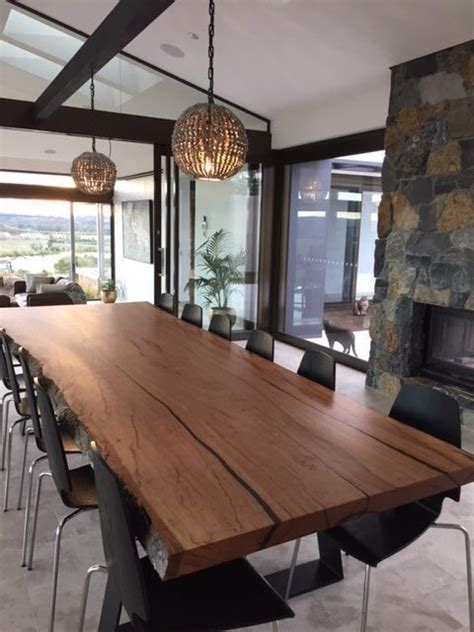 edge dining table lumber furniture