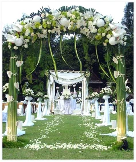 outdoor wedding entrance ideas pink lover