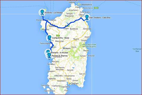 road map  northern sardinia map resume examples