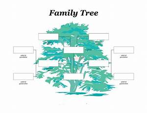 50 free family tree templates word excel pdf With picture of a family tree template