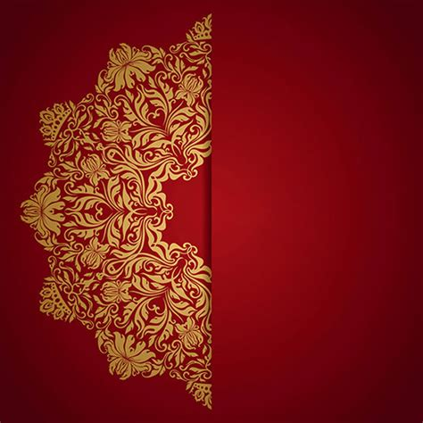 floral design pattern ornament background red wedding