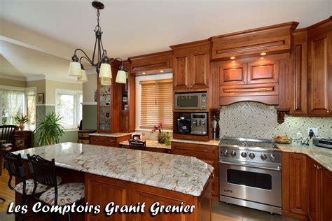 cuisine comptoir comptoir de granit et quartz réalisations de cuisines et