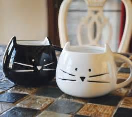 cat mug custom text cat mug white black by tickledtealboutique