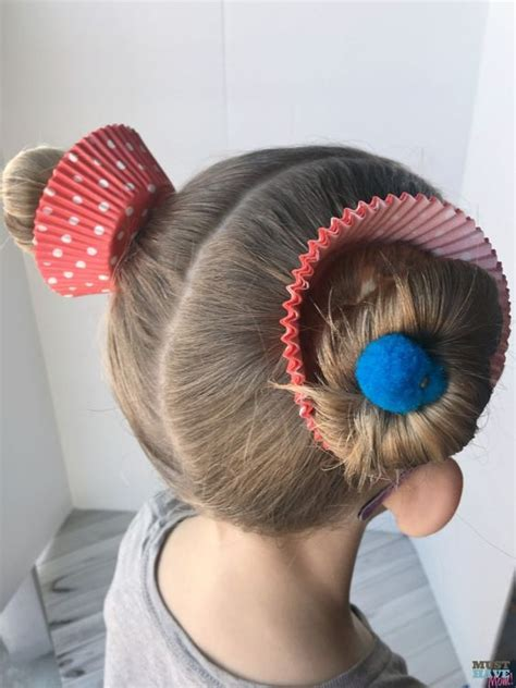 Crazy Hair Day Ideas Girls Cupcake Buns These Cupcake