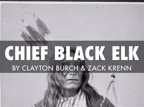 Chief Black Elk By Clayton Buuuurch