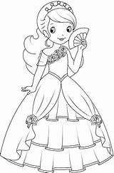 Coloring Pages Princess Mini Fan Prenses Illustrations Clip Barbie Colouring Disney Drawings Dessin Boyama Para Millions Vector Dollarphotoclub Books Cartoon sketch template