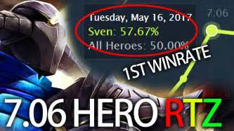 maybe you don t sven highest winrate at 7 06 gameplay by arteezy dota 2 youtube