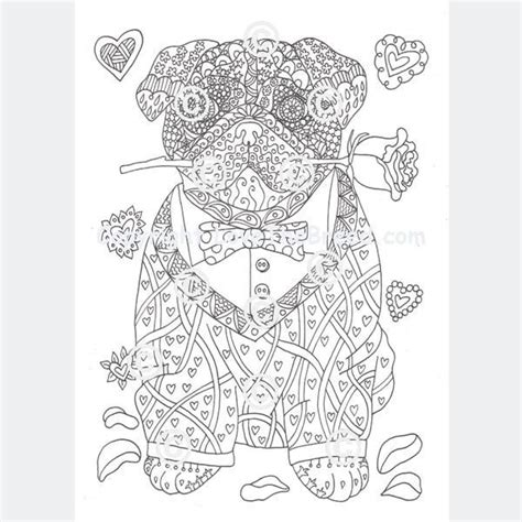 pug coloring book  adults  children volume  lovethebreedcom