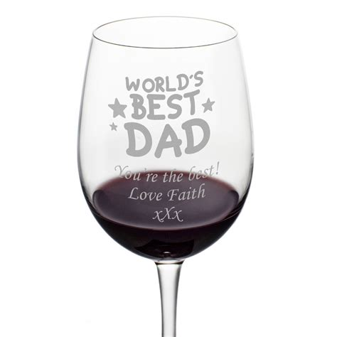 wine glass dad personalised glasses mother heart hearts engraved mothers mum keepitpersonal worlds