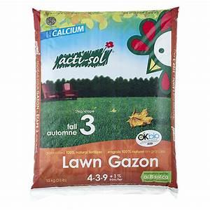 Engrais Gazon Naturel : acti sol engrais gazon naturel tape 3 4 3 9 15 kg ~ Premium-room.com Idées de Décoration