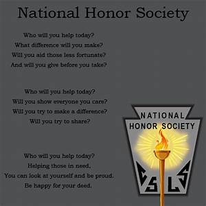 National Honor Society Recommendation Letter National Honor Society