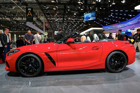 Bright Red 2020 Bmw Z4 Drops Its Soft Top In Paris
