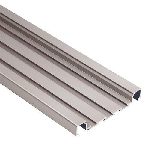 Schluter Tile Trim Home Depot by Schluter Quadec Fs Satin Nickel Anodized Aluminum 5 16 In