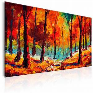 Bilder Bäume Gemalt : leinwand bilder xxl kunstdruck wandbild wald wie gemalt abstrakt c b 0169 b a ebay ~ Orissabook.com Haus und Dekorationen