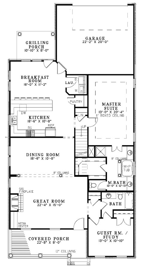 Traditional Style House Plan 4 Beds 3 Baths 2607 Sq/Ft