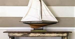 1901 J Class Yacht Model And Rustic Design Beach House