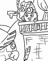 Coloring Pages Princess Waffle Activity Smash Waffles Chicken sketch template