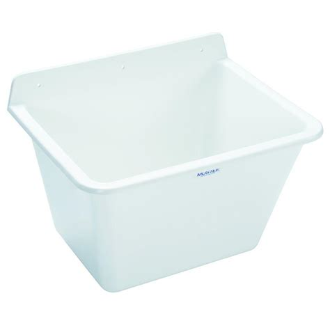 mustee utilatub 17 in x 22 in x 16 7 8 in polypropylene wall mount utility sink 16 the home