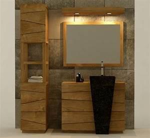 achat vente meuble salle de bain rhodes 100 teck With porte d entrée pvc avec colonne vasque salle de bain
