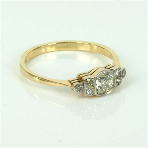 gold deco engagement rings buy deco engagement ring in gold and platinum