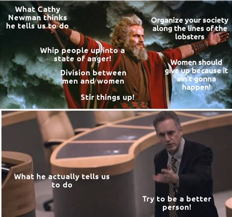 Cathy Newman Memes - what cathy newman thinks he tells us to do jordan peterson memes