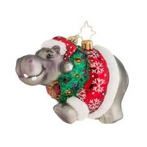 christopher radko ornaments 2016 radko hippo holidaze ornament 1018116