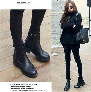 womens boots fashion 2015 fashion winter sapatos femininos flat shoes waterproof ankle boots casual pu