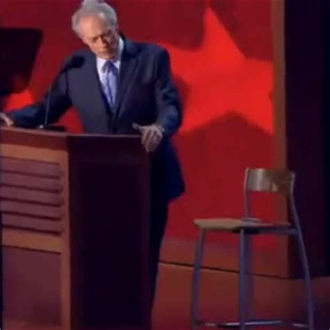 Clint Eastwood Chair Meme - clint eastwood s empty chair speech eastwooding invisible obama know your meme
