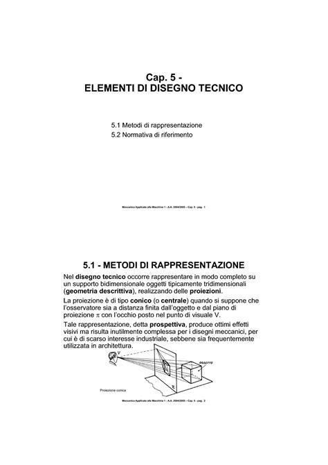 disegno tecnico dispense disegno tecnico di macchine elementi dispense