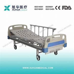 China Two Cranks Manual Hospital Bed With Folding Aluminum