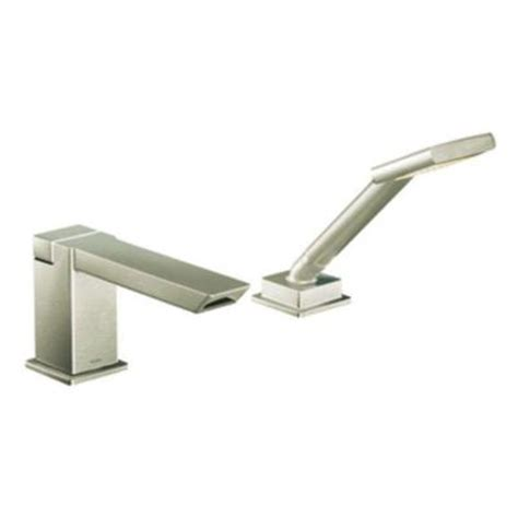 Moen 90 Degree Faucet Brushed Nickel by Moen 90 Degree Touchless Deck Mount Tub Faucet Trim