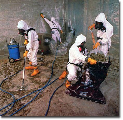 vintage asbestos abatement ad workers cleaning enclosure