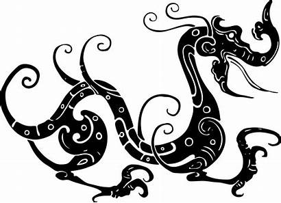 Tribal Dragon Silhouette Clipart Asian Octopus Clip