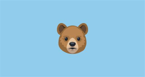 Bear Face Emoji On Facebook 2.0