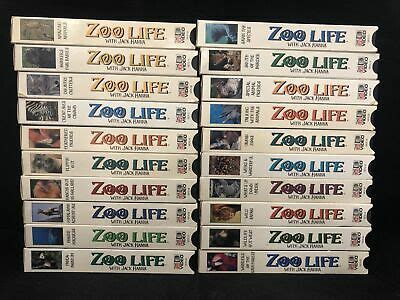 Lot of 20 Zoo Life with Jack Hanna Time Life VHS Tapes   eBay