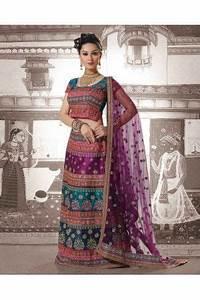 Robe indienne de mariage violette bleu robe orange et for Robe de ceremonie cette combinaison bijoux indiens