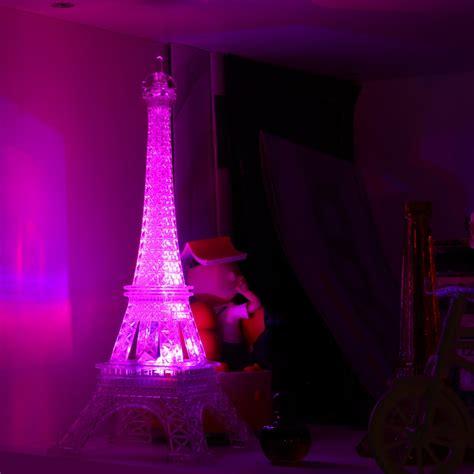 romantic creative eiffel tower led night light desk